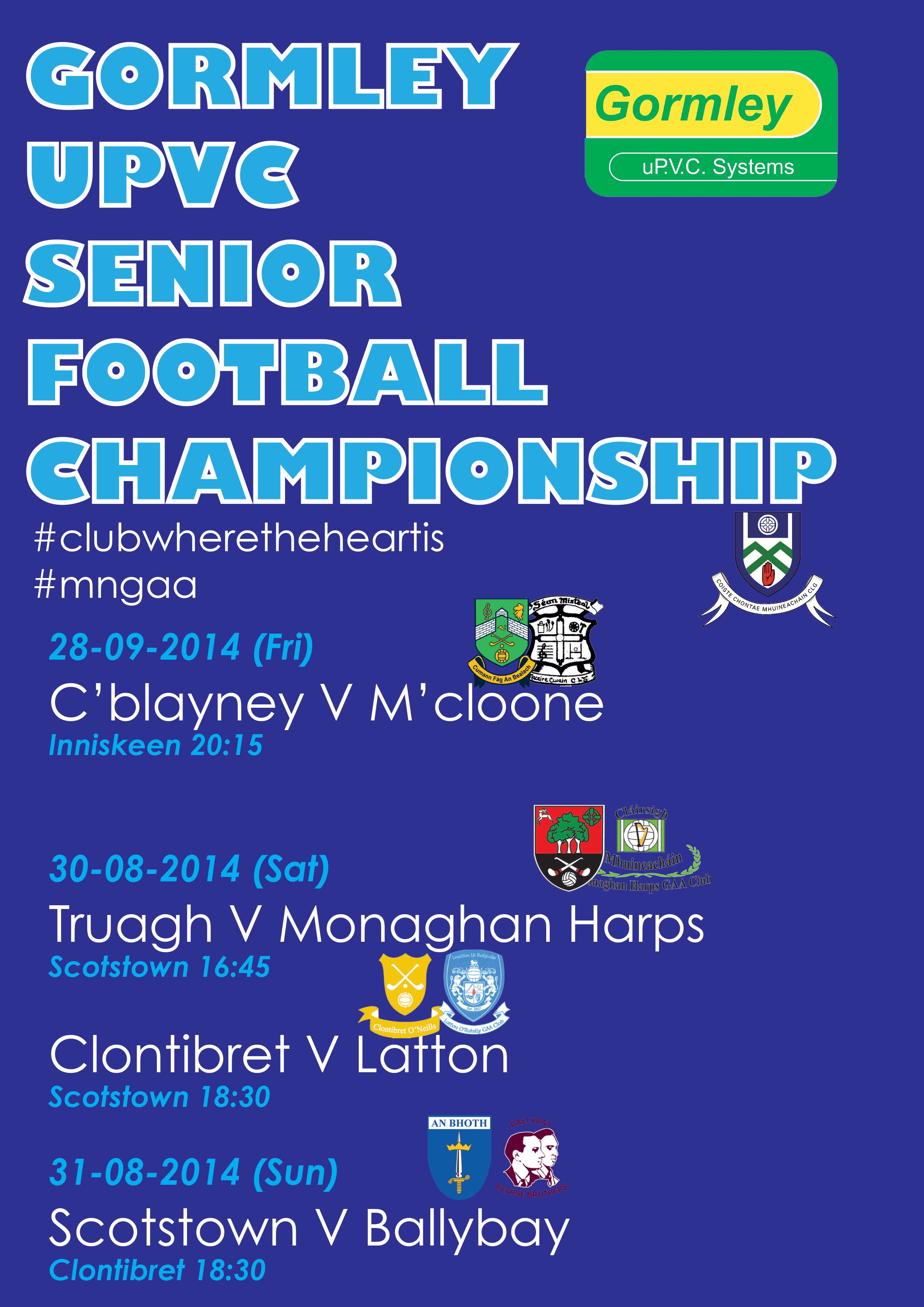 Championship Games and Finals 29 – 31st August