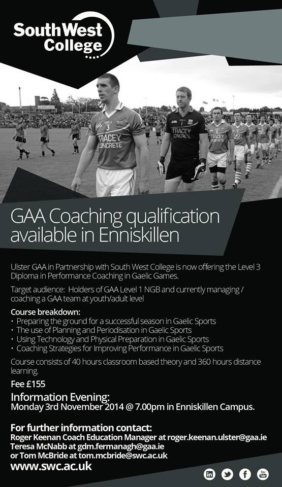Level 3 Diploma in Performance Coaching in Gaelic Games