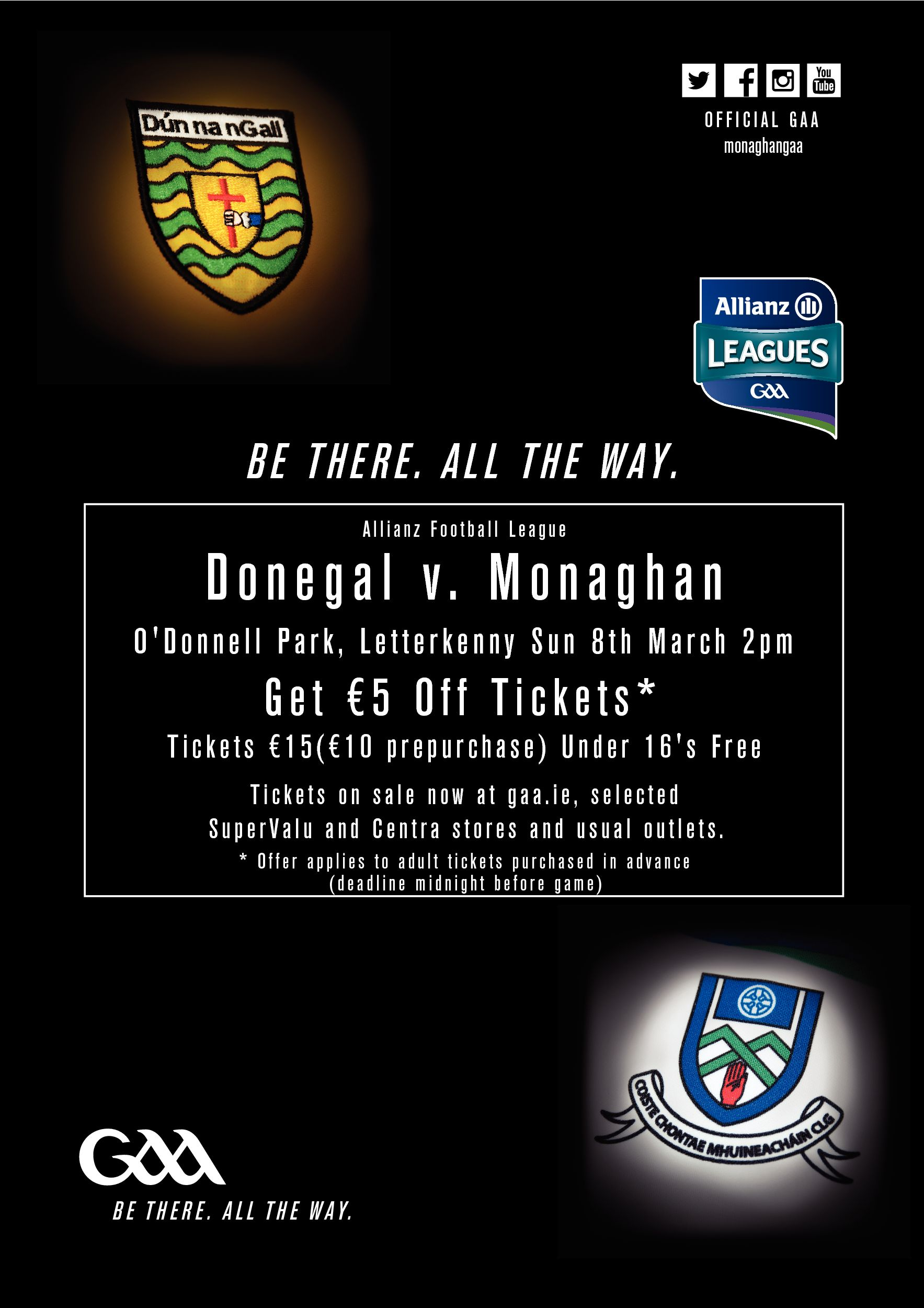 Monaghan Team v Donegal – Sunday 8th March 2pm