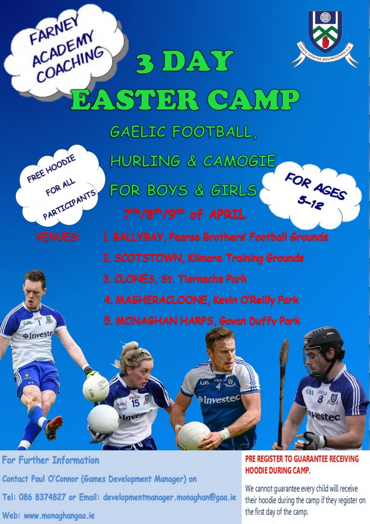 Farney Academy Coaching 3 Day Easter Camp