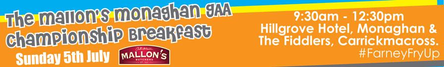 The Mallon Monaghan GAA Championship Breakfast