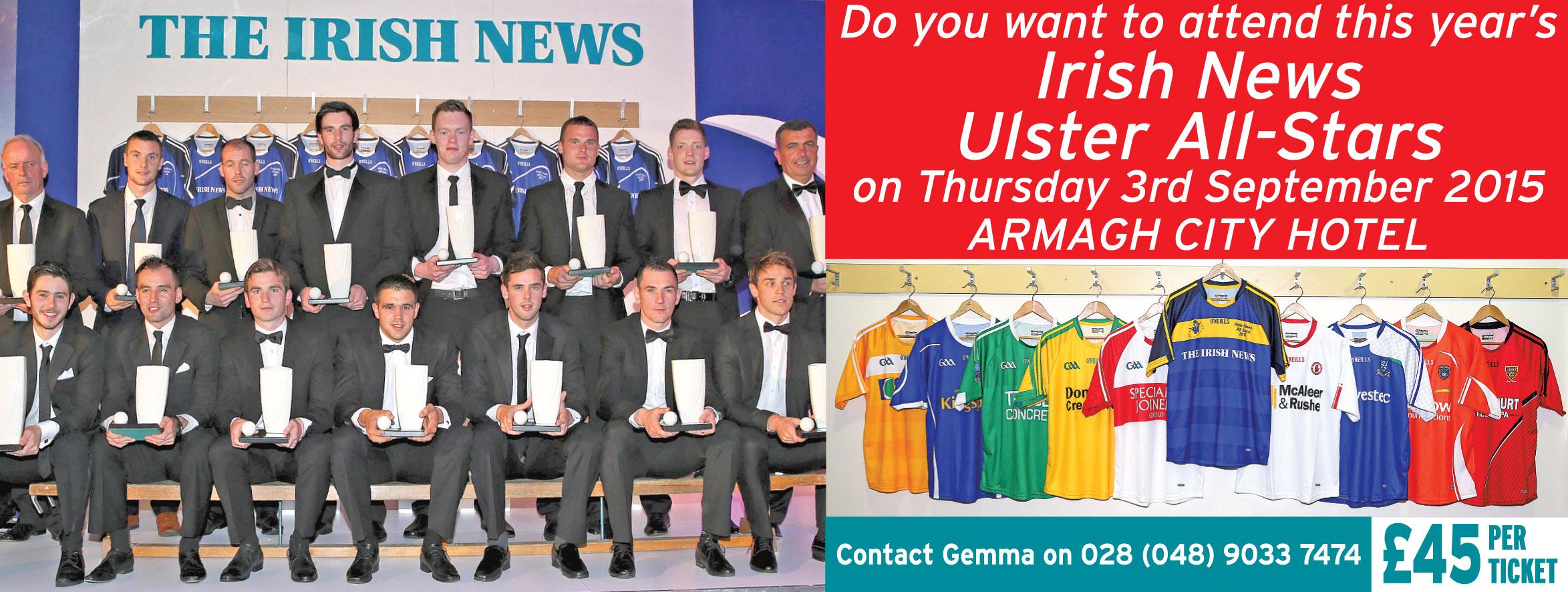Irish News Ulster All Stars 2015