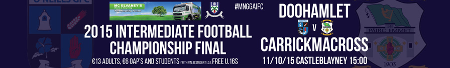 Monaghan 2015 Intermediate football Championship Web Banner