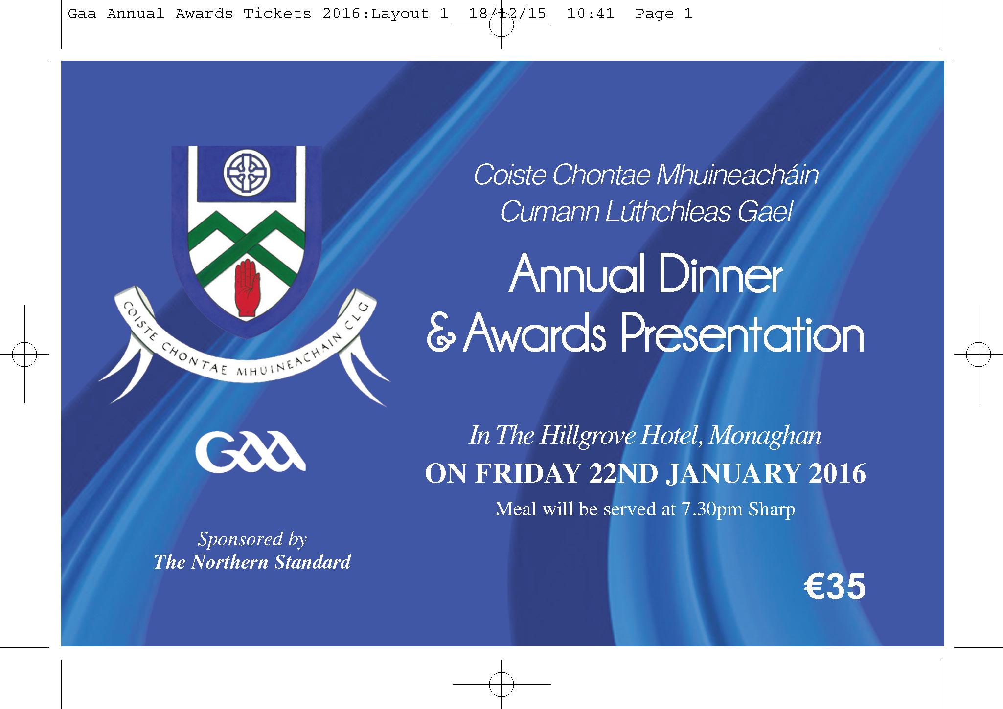 Annual Awards Night