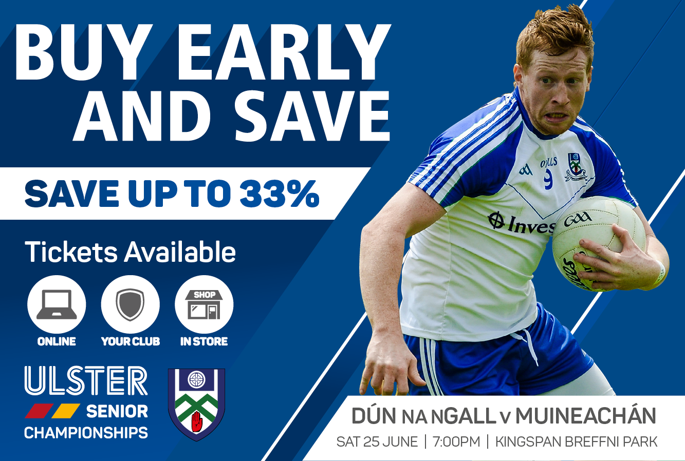 Monaghan v Donegal Ticket Sales  – Buy Now