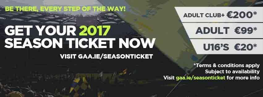 2017 GAA Season Ticket