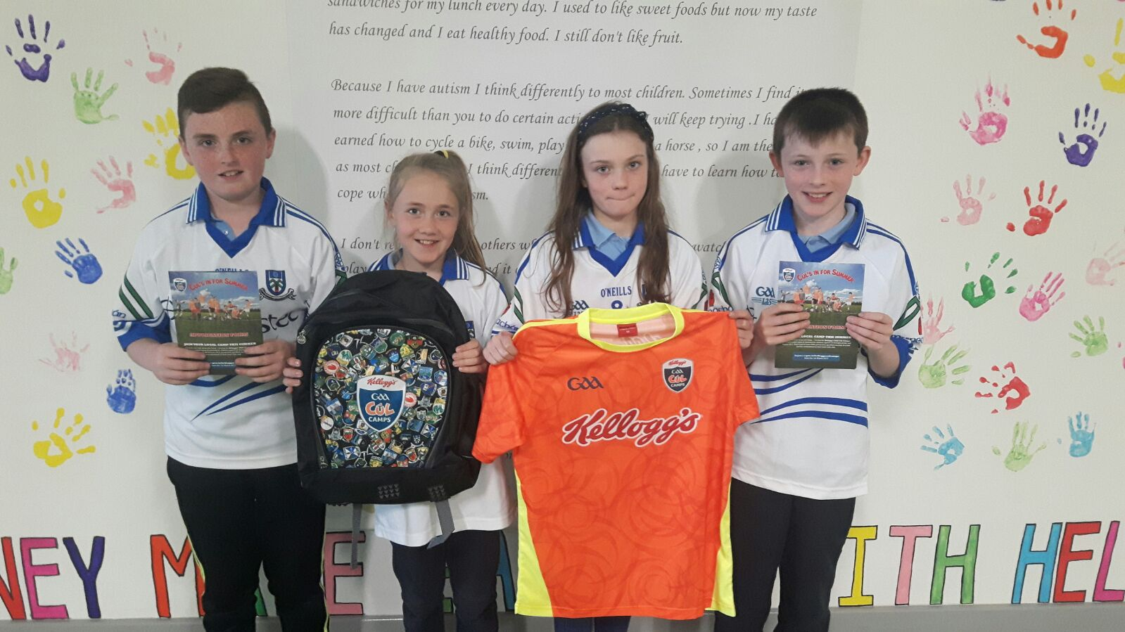 Promoting Kelloggs Cul camps in our Primary Schools