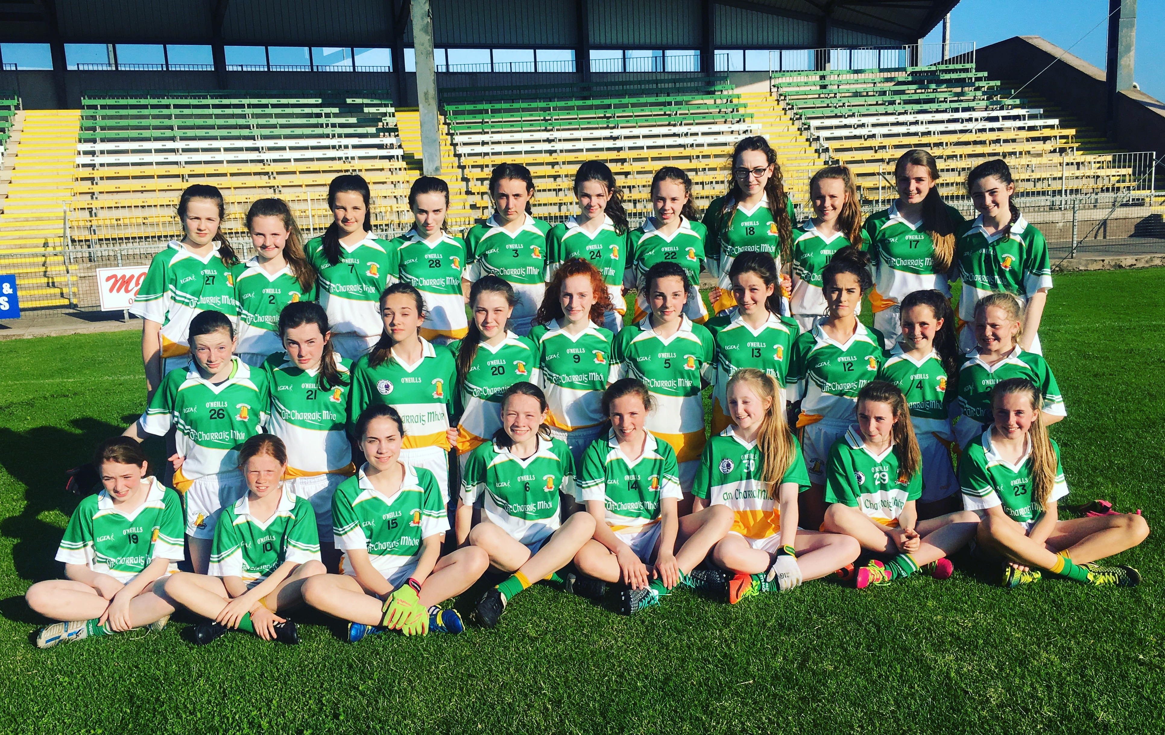 Magheracloone ladies Welcome Carrickmore to Féile