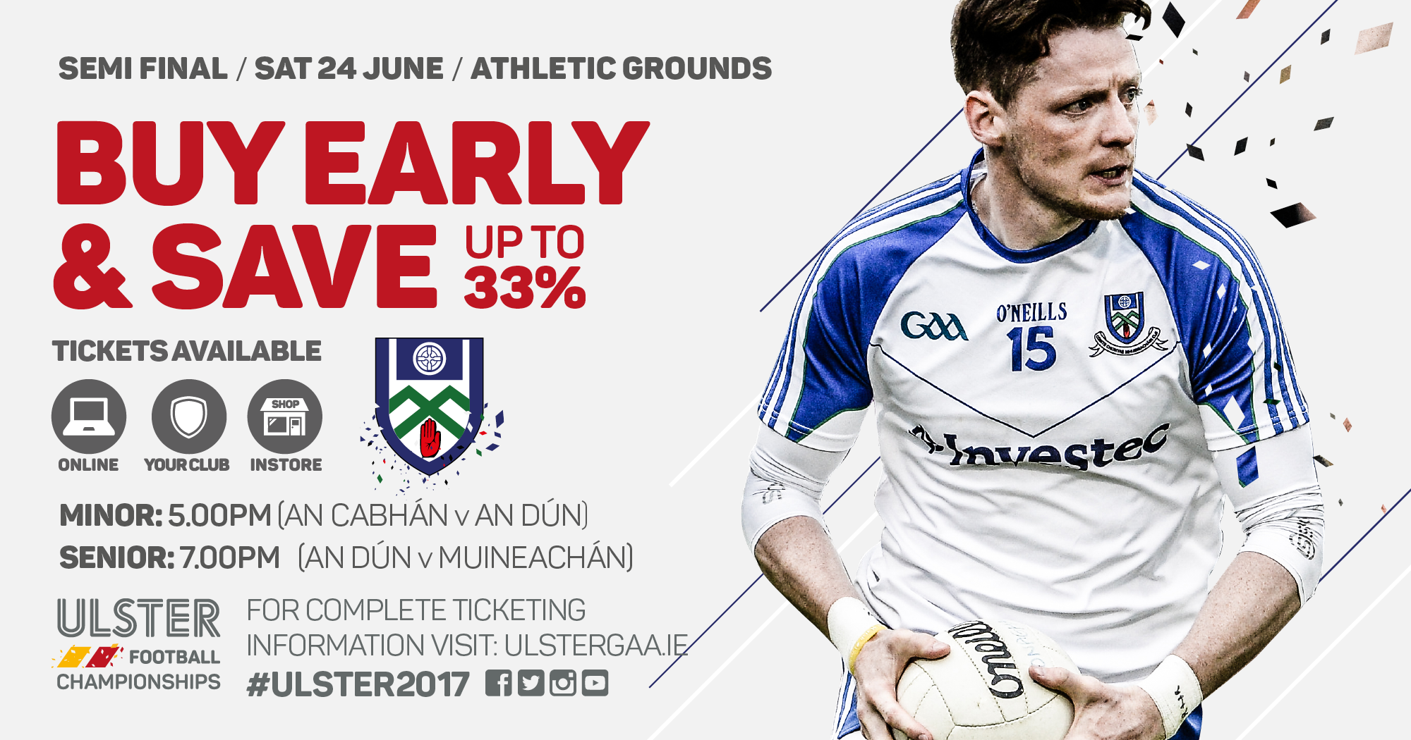 Ulster SFC Match Ticket Sales
