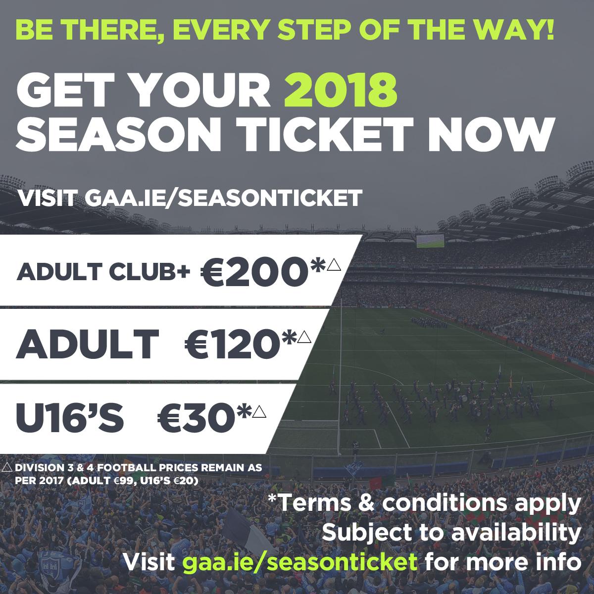 Season Ticket Renewals Now Open