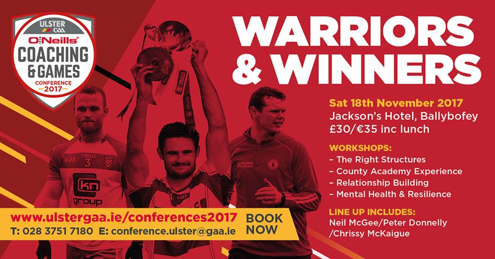 O'Neill's Ulster GAA Coaching & Games Development Conference this Saturday