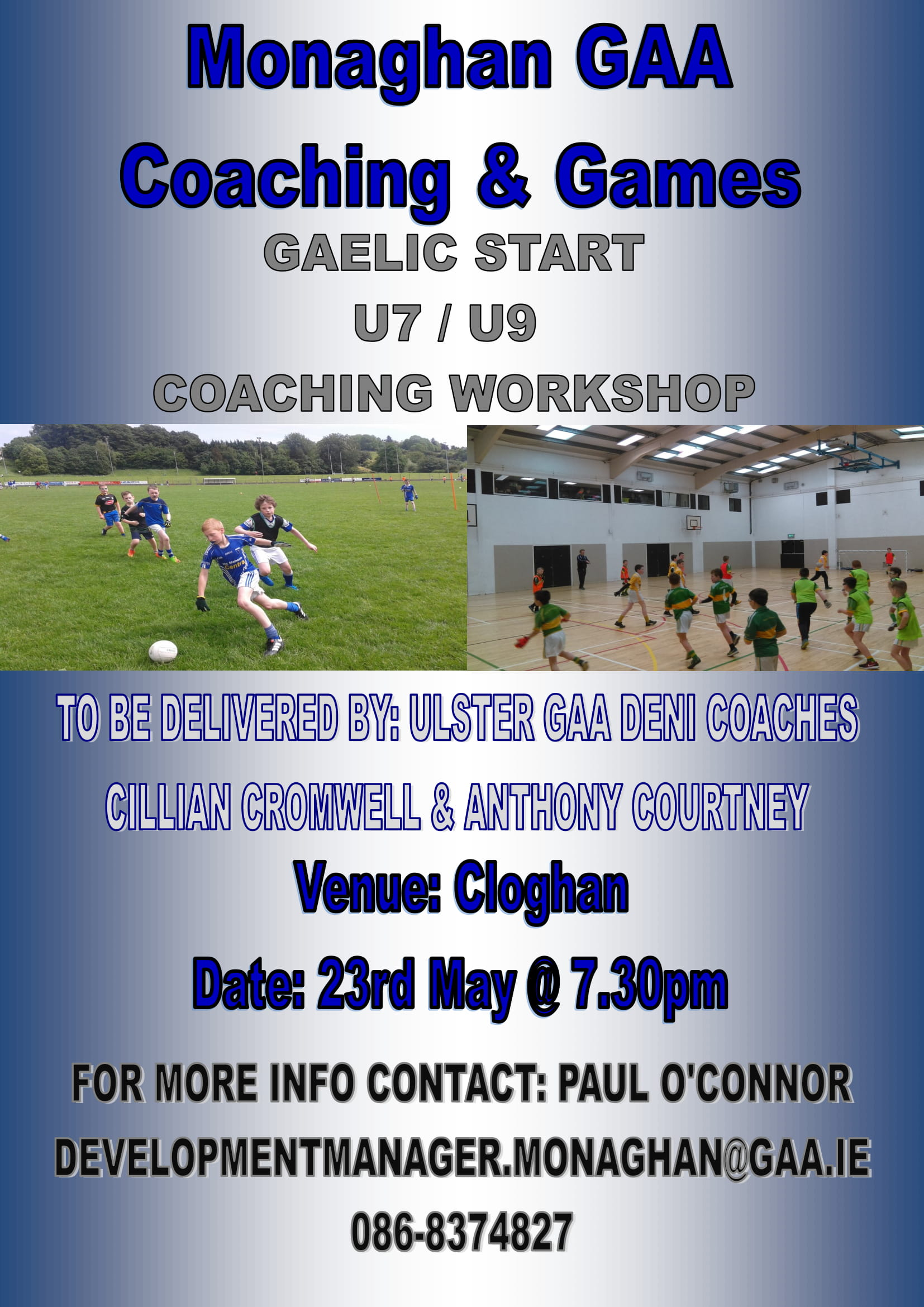Gaelic Start Workshop – 23rd May @ Cloghan