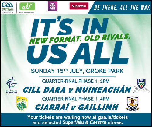 Monaghan v Kildare Ticket Details