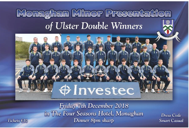 Minor Ulster Double Winning Presentation