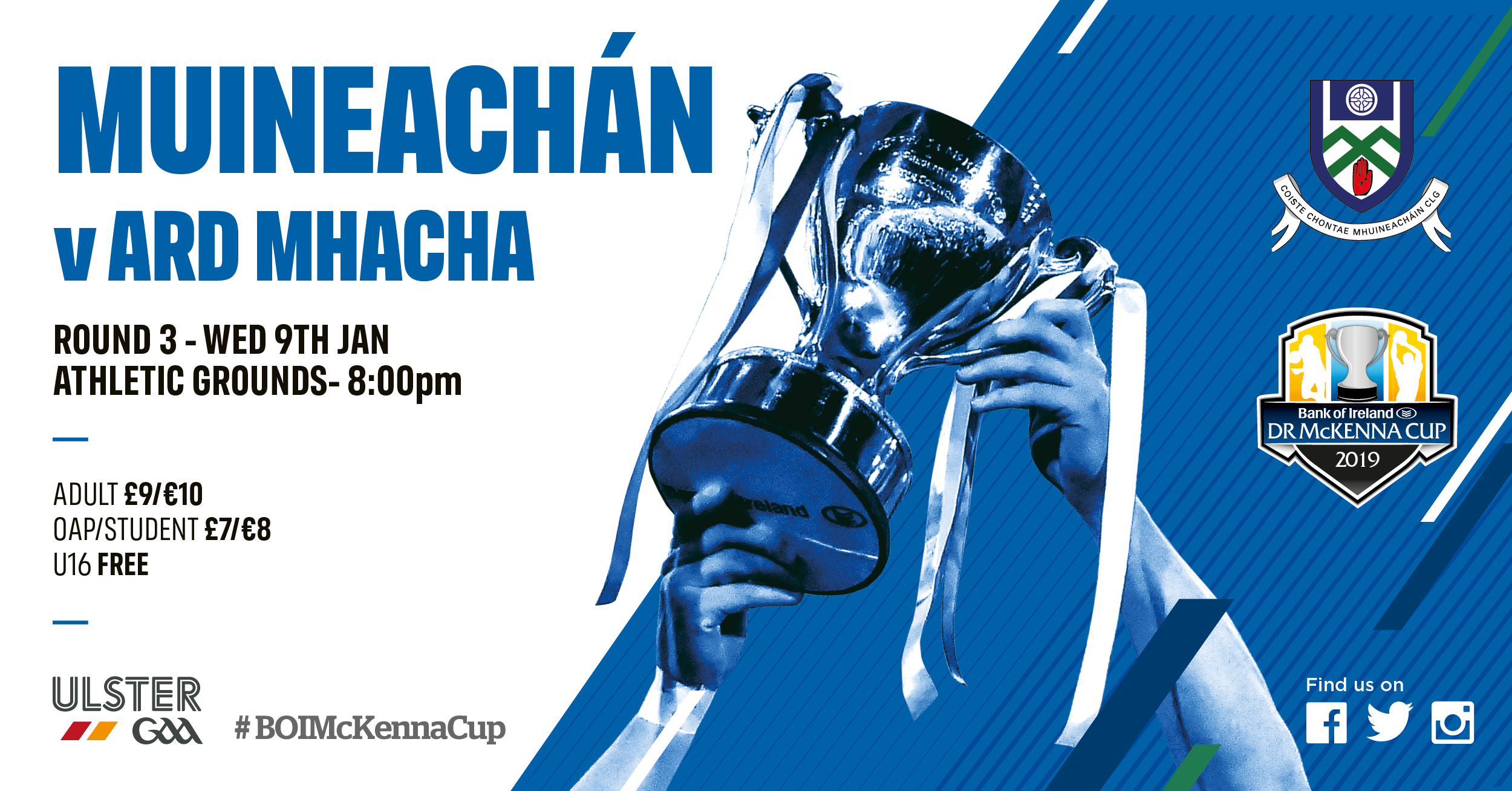 Bank of Ireland Dr McKenna Cup Monaghan V Armagh –  Round 3