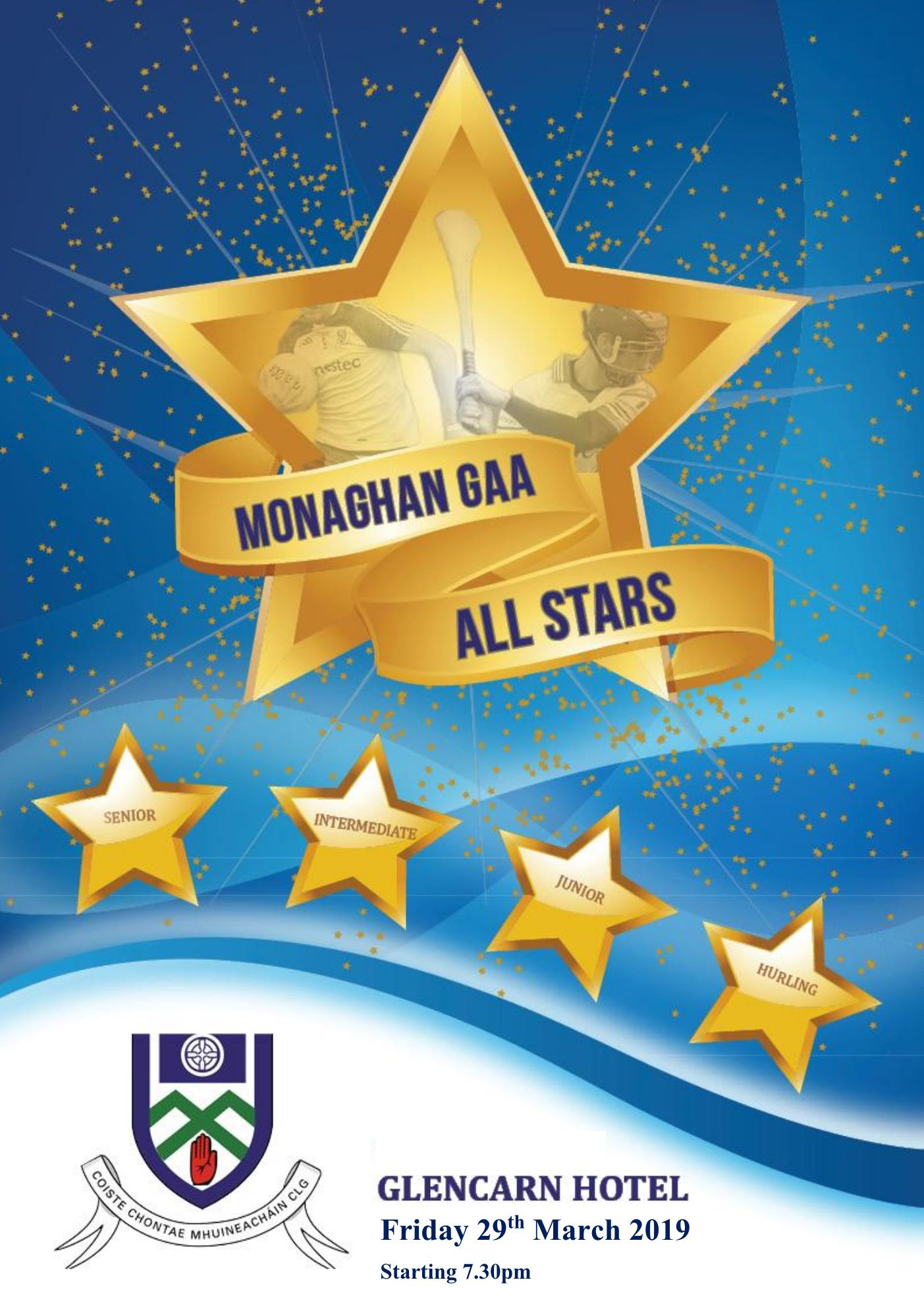 Monaghan GAA Club ALL Star Night – Friday 29th of March 2019