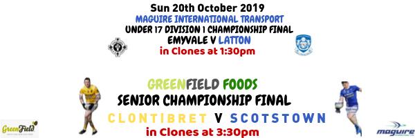 4 Days to go… 2019 Senior & Under 17 Div 1 Football Championship Finals