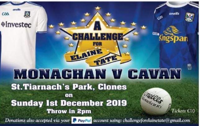 Challenge for Elaine Tate – Monaghan V Cavan 1st December