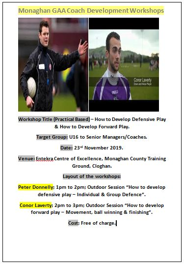 Monaghan GAA Coach Development Workshops