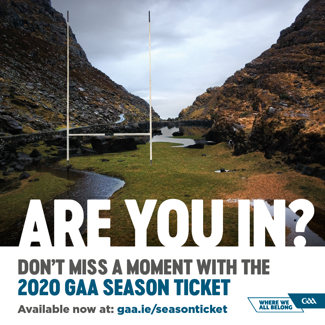 Don't miss a moment with the 2020 GAA Season Ticket